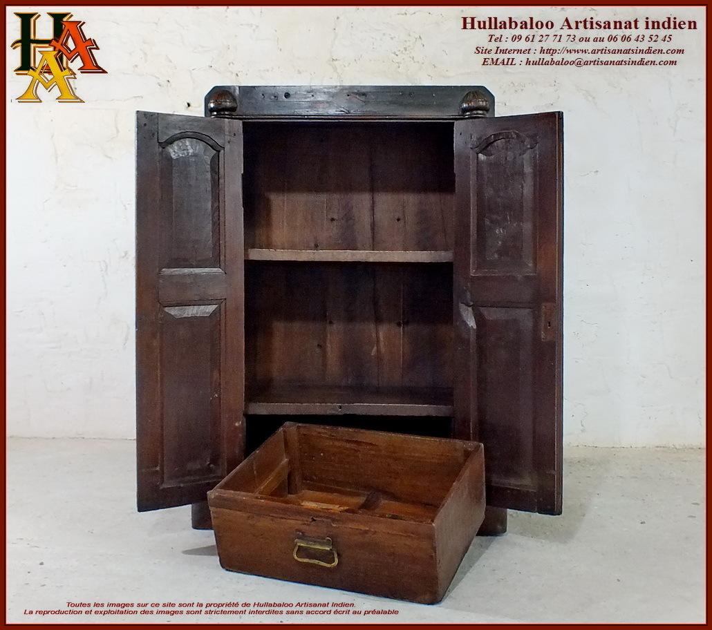 Placard indien ancien jn10 sgh54 meubles indiens for Meubles indiens anciens