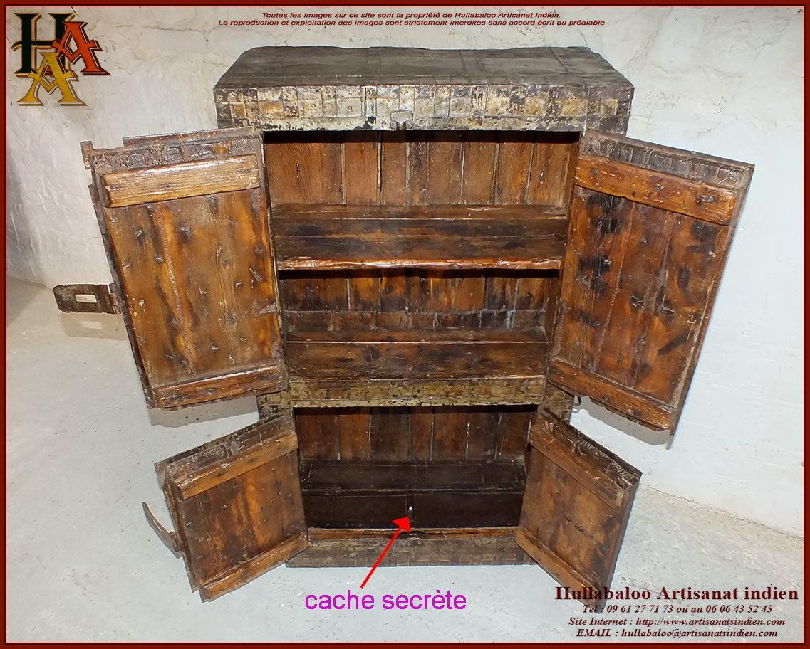 placard-coffre-fort indien ancien JN10-SGH59, Meubles indiens,