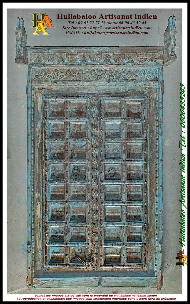 Porte indienne ancienne jn11 liltd54 meubles indiens for Decoration porte indienne