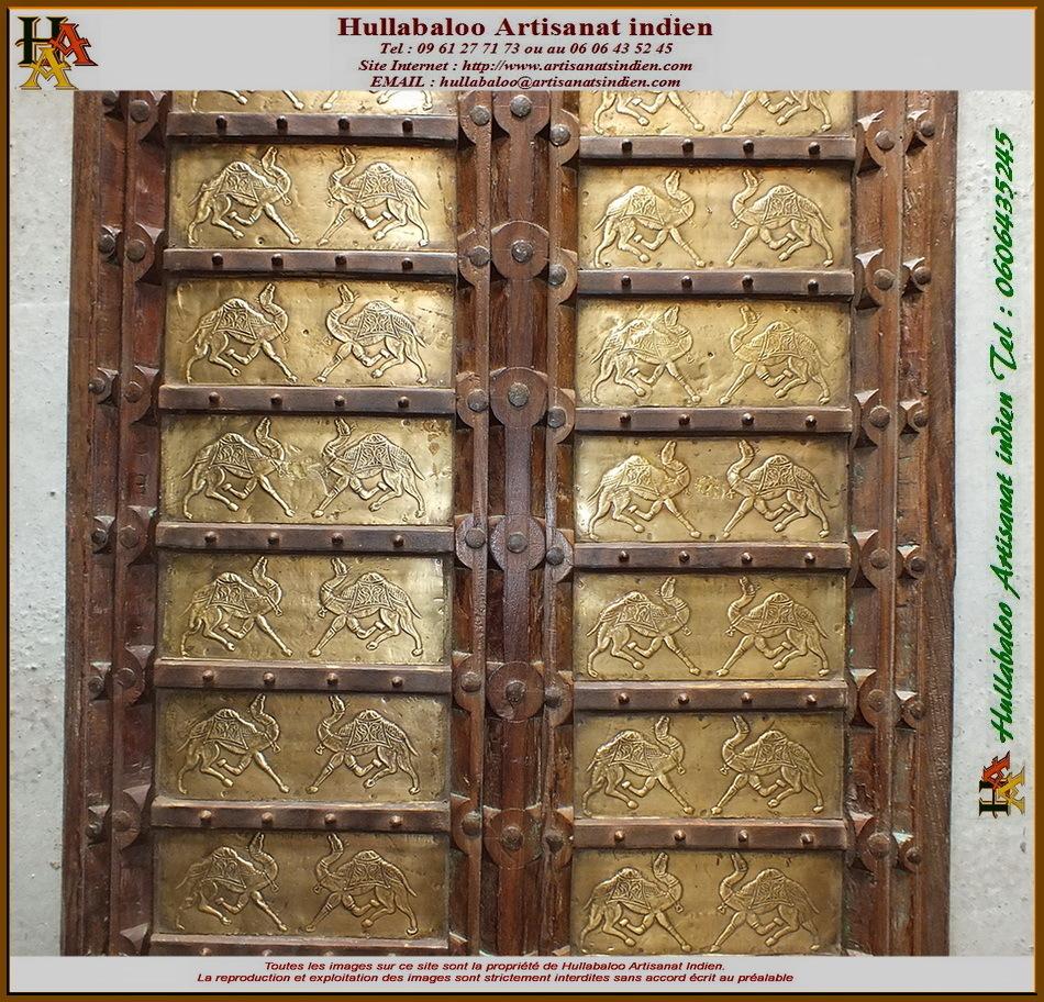 Battants de porte bois laiton jn11 liltd311 meubles - Battant de porte ...