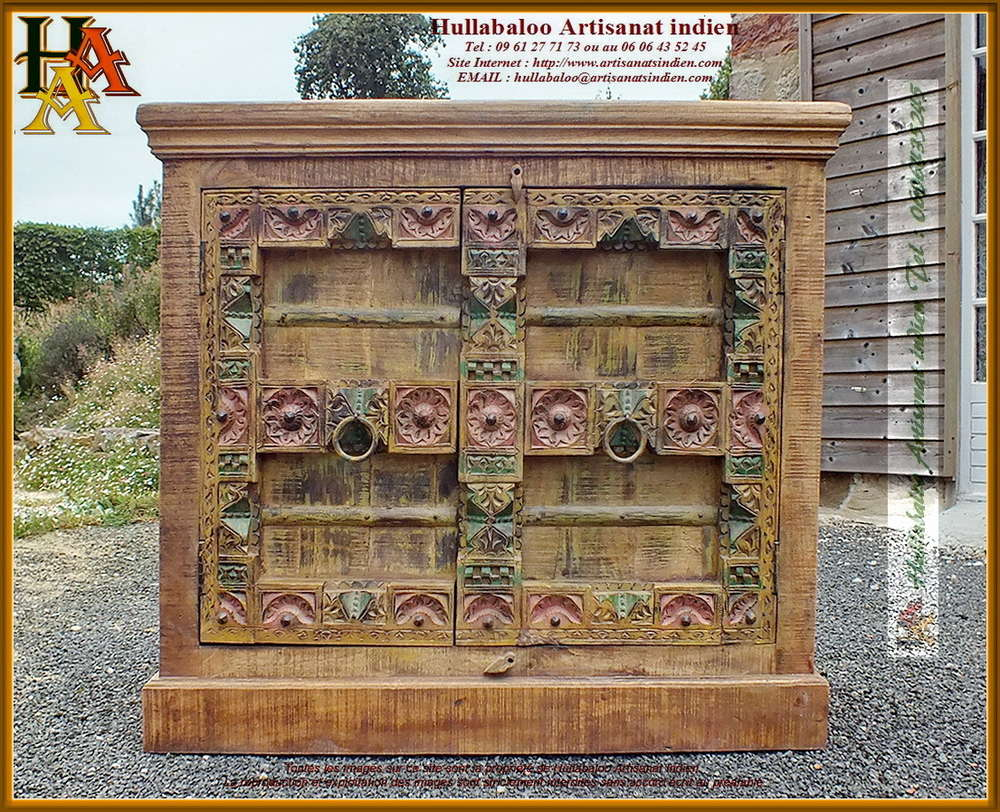 buffet style vieilles portes JN11-CAC14, Meubles indiens, bois,