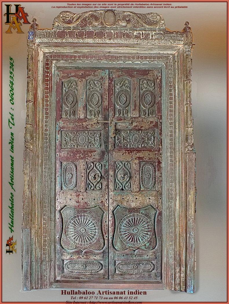 Vieille Porte En Bois Ancienne porte indienne ancienne jn11-liltd57